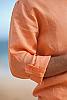 Men's Linen Long Sleeve Pullover Coral Shirt Epaulet Sleeves