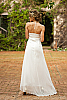 Silk chiffon halter dress - double-layer - custom order - white - back view - Island Importer