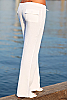 Island pant - basic low-cut drawstring linen pant - white - back view - Island Importer