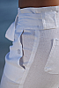 Linen boardwalk pant - casual chic - white - belt detail - Island Importer