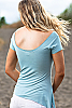 Bangkok top - off-the-shoulder - pebble blue - back view - Island Importer