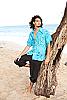 Men's Batik Island Hawaiian Short Sleeve Rayon Shirt Front