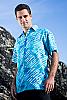 Men's Batik Island Hawaiian Short Sleeve Rayon Shirt Full