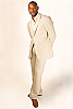 Men's Custom Linen Full Suit Beach Weddings & Grooms White