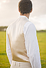 Men's Custom Linen Suit Vest Beach Weddings & Grooms Natural Front