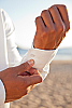 Ceylon shirt - Nehru collar - Eastern look - Amalfi shirt - white - cuff detail - Island Importer