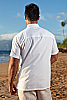 Island shirt - cotton - loose-fitting - white - collar view - Island Importer