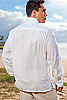 Men's Bamboo Long Sleeve White Italian Shirt Back
