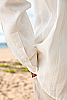 Men's Linen Traveler Long Sleeve White Shirt Sleeves