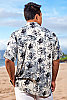 Men's Octopus Batik Island Hawaiian Short Sleeve Rayon Shirt Back