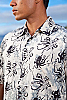Men's Octopus Batik Island Hawaiian Short Sleeve Rayon Shirt Collar