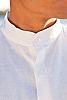 Ceylon shirt - Nehru collar - Eastern look - Amalfi shirt - white - collar detail - Island Importer