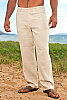 Men's Linen Yacht Pants Natural (Khaki) Back-Slit Pockets