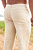 Men's Linen Yacht Pants Natural (Khaki) Side-Slit Pockets