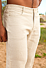 Men's Linen Yacht Pants Natural (Khaki) Front