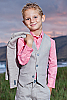 Boy's Custom Gray Linen Suit Beach Wedding Front Vest
