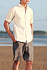 Men's Linen Casual Gray Beach Shorts Back