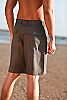 Men's Linen Casual Gray Beach Shorts Front