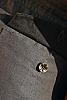 Men's Linen Gray Dress Pants Beach Wedding Back-Flap Pockets