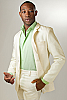 Mens Linen Ivory Suit Jacket Beach Wedding Front Open
