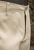 Men's Linen Natural (Khaki) Dress Pants Beach Wedding Close Front