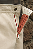 Men's Linen Natural (Khaki) Dress Pants Beach Wedding Zipper Detail