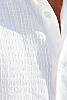 Men's Linen Hand-Stitched Design White Long Sleeve Shirt Stitch Detail