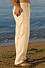 Boy's Linen Natural (Khaki) Dress Pants Beach Wedding Side