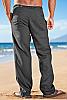 Island Importer Slate Gray Linen Riviera Pants