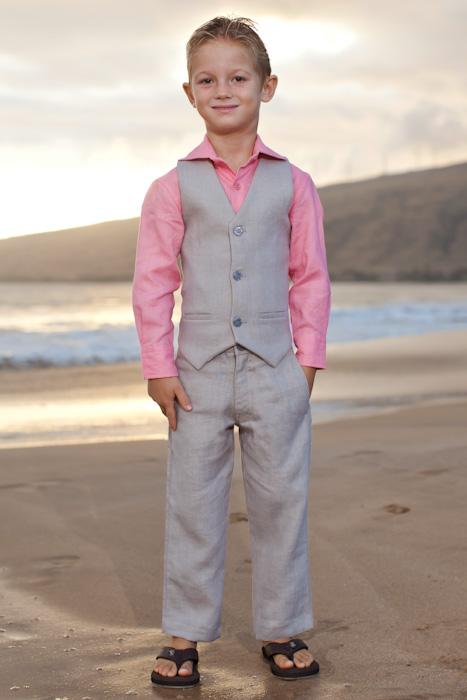 Boy S Custom Linen Suit For Beach Weddings Island Importer