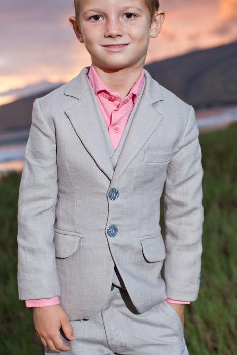 Boy\'s Custom Linen Suit for Beach Weddings