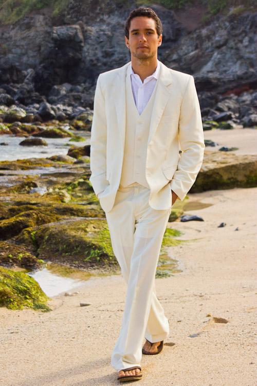 Mens Linen Suits Beach Wedding - Wedding Photography