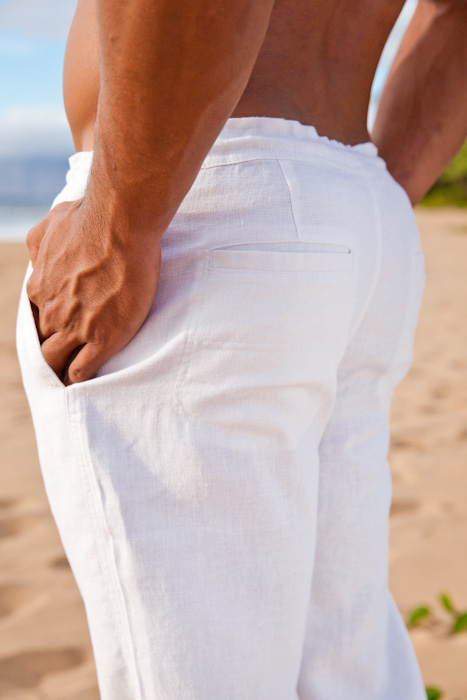 Men S White Linen Drawstring Pants Loose Fit Island Importer