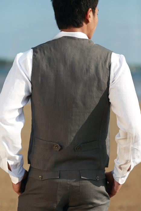 Linen Shirts Men Beach Wedding