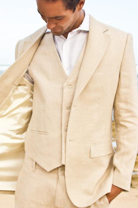 Men S Linen White Suit Jacket Beach Wedding Island