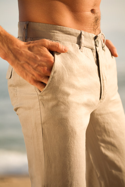 Mens Linen Madrid Pant - Slim Fit, Beach Wedding Pants