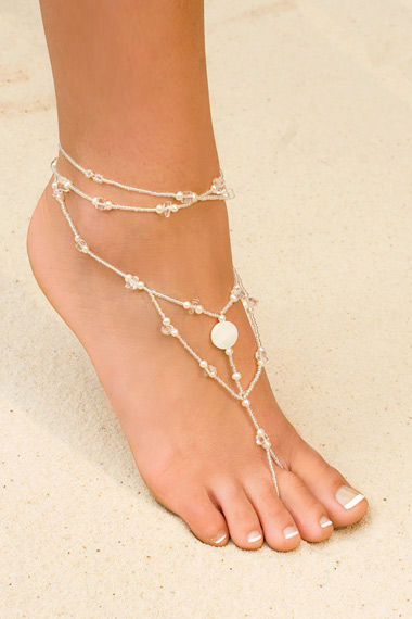 Foot Jewelry - White