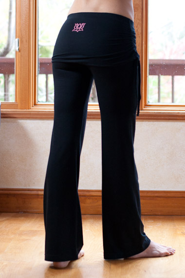 Women Lotus Yoga Pants with Skirt Attached