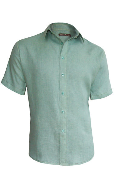 Sea Mist Linen Earth Shirt