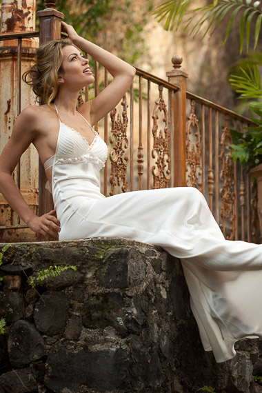 Silk pearl wedding dress island importer pearl dress double layered halter freshwater pearls white island importer junglespirit Images