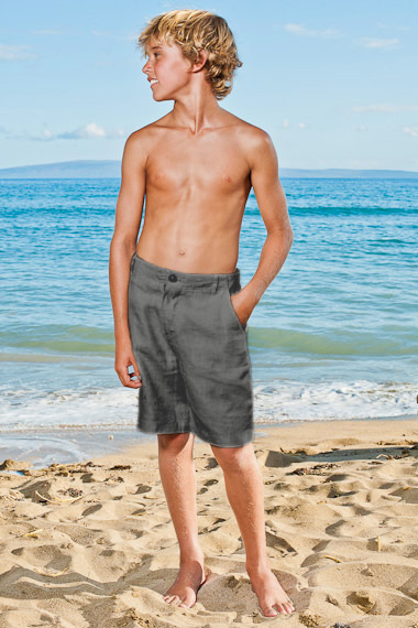 Boy's Linen Casual Maui Shorts - Island Importer