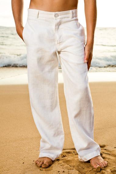 Boy's Linen Amalfi Pant