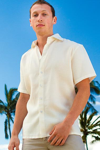 Mens Linen Amalfi Shirt, Short Sleeve