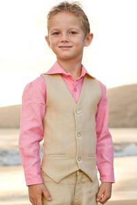 Boy's Linen Vest