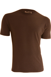 Men's Bamboo & Organic Cotton Blend Brown T-Shirt